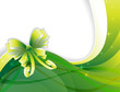 sparkling green background