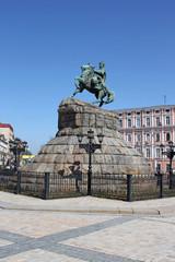 Historic monument to Hetman Bogdan Khmelnitsky in Kiev, Ukraine