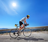 Cyclist riding a bicycle in Macedonia