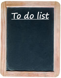 TO DO LIST (template chalk handwriting on blackboard to-do list) poster