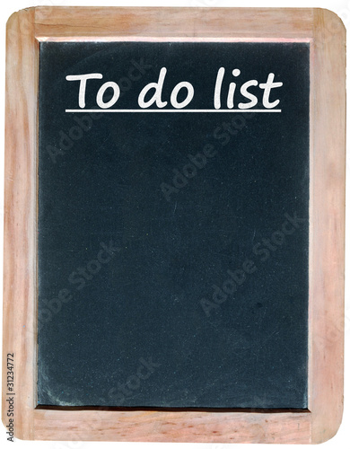 TO DO LIST (template chalk handwriting on blackboard to-do list)