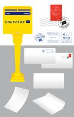 Kit Courrier (Boîte aux lettres - Enveloppes - Timbre)