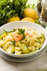 Pappardelle Zucchine e Gamberetti