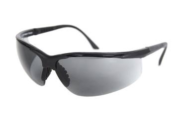 black sport sunglasses isolated