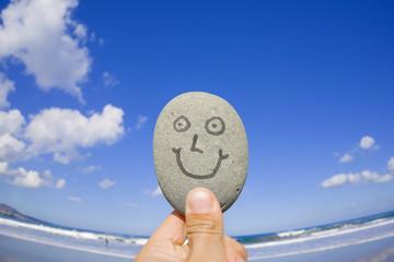 Piedra con Sonrias