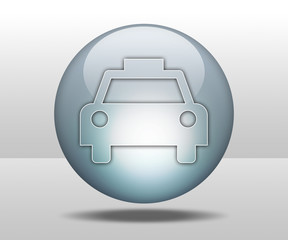 "Hovering Sphere Button ""Taxi Cab"""