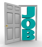 Door Opens to Word Job - Getting Hired poster