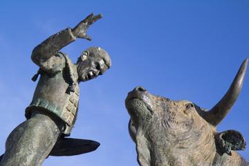 Statue dédiée à la tauromachie (détail)