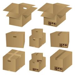 Cardboard Icons Set