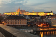 Panorama of Prague with Prague Castle, Czech Republic
