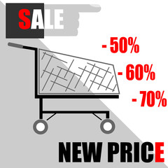 vector illustration with announcement about sale