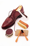classic, brown, boot, clean, set,