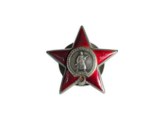 Order of a Red Star in World War II isolated on white