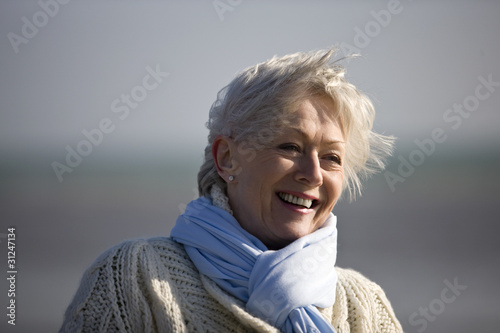 Portrait of a senior woman on the beach