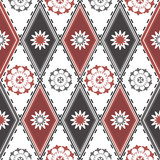Seamless pattern with rhombuses poster