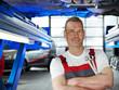 Motormechanic is satisfied with his job