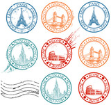 Fototapety City stamps collection