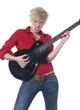 jeune rockeuse rebelle à la guitare