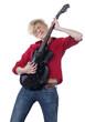 jeune femme guitariste