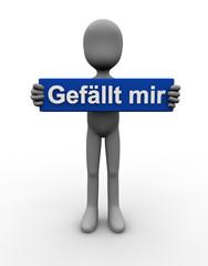 Gefällt mir - deutsch