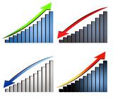 increase decrease graphs poster
