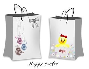 Gift packages with Easter decorations