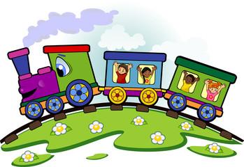 Trenino con bimbi