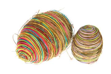straw easter eggs