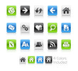 Web Icons/ The vector includes 5 colors in different layers