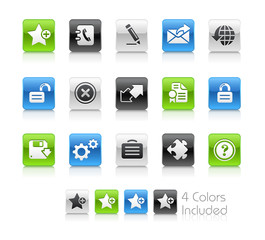 Web 2.0 / The vector includes 4 colors in different layers.