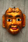 traditional art craft puppet mask hanoi vietnam asia poster
