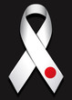 white ribbon for japan