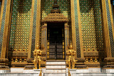 buddhist temple in grand palace bangkok thailand asia poster