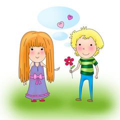 пара мальчик и девочка