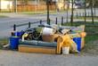 Leinwanddruck Bild - Müllentsorgung