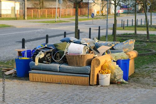 Leinwanddruck Bild Müllentsorgung