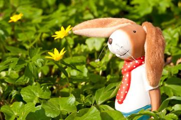 osterhase mit Blumen 4