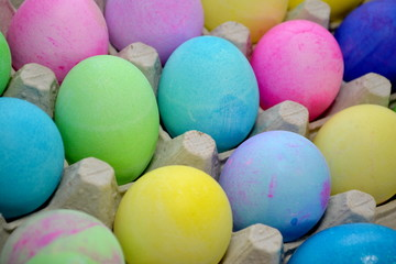 Drying Colorful Easter Eggs