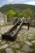 medieval iron cannon in castle