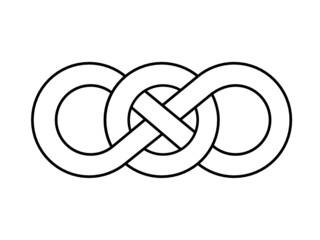 Figure of Eight Celtic Knot (Irish Design Pattern Infinite)
