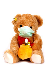 Bear is afraid of virus