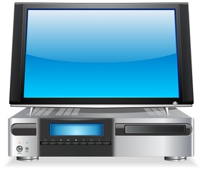 Home Media Personal Computer with Flat Screen LCD Display