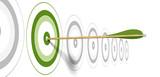 green target - flèche verte et coeur de cible