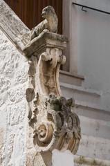 Stone balustrade.