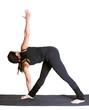 yoga excercising utthita trikonasana