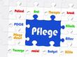 Pflege - Business Konzept - Puzzle Style