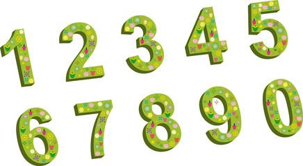 nombres fleuris