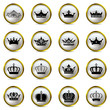 Crown icons set