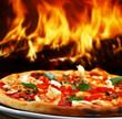 Leinwandbild Motiv pizza seafood