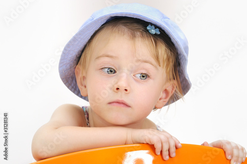 Fashion little girl in studio